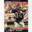1990 Pro Set Football #688 Steve Broussard RC - Atlanta Falcons