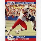 1990 Pro Set Football #678 Ray Agnew RC - New England Patriots