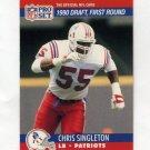 1990 Pro Set Football #676 Chris Singleton RC - New England Patriots