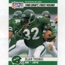 1990 Pro Set Football #670 Blair Thomas RC - New York Jets