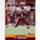 1990 Pro Set Football #661 Todd Bowles RC - Washington Redskins