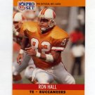1990 Pro Set Football #655 Ron Hall - Tampa Bay Buccaneers