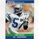 1990 Pro Set Football #651 Tony Woods - Seattle Seahawks