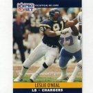 1990 Pro Set Football #632B Leslie O'Neal - San Diego Chargers