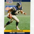 1990 Pro Set Football #630B Anthony Miller WR-KR - San Diego Chargers