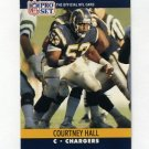 1990 Pro Set Football #628 Courtney Hall - San Diego Chargers