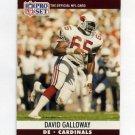 1990 Pro Set Football #614 David Galloway - Phoenix Cardinals