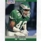 1990 Pro Set Football #612 Izel Jenkins RC - Philadelphia Eagles