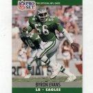 1990 Pro Set Football #605 Byron Evans RC - Philadelphia Eagles