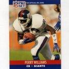 1990 Pro Set Football #600 Perry Williams - New York Giants