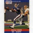 1990 Pro Set Football #599 Odessa Turner RC - New York Giants