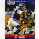 1990 Pro Set Football #594 Eric Dorsey RC - New York Giants