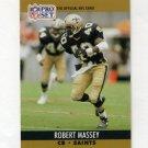 1990 Pro Set Football #589 Robert Massey - New Orleans Saints