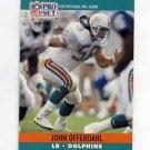 1990 Pro Set Football #562 John Offerdahl - Miami Dolphins