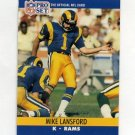 1990 Pro Set Football #552 Mike Lansford - Los Angeles Rams