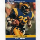 1990 Pro Set Football #550 Robert Delpino - Los Angeles Rams