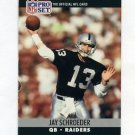 1990 Pro Set Football #548 Jay Schroeder - Los Angeles Raiders