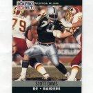 1990 Pro Set Football #542 Scott Davis - Los Angeles Raiders