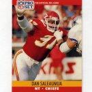 1990 Pro Set Football #535 Dan Saleaumua - Kansas City Chiefs