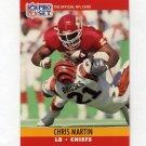 1990 Pro Set Football #531 Chris Martin RC - Kansas City Chiefs