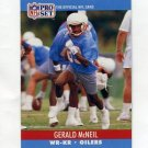 1990 Pro Set Football #515 Gerald McNeil - Houston Oilers