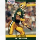 1990 Pro Set Football #499 Dave Brown - Green Bay Packers
