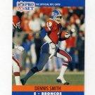 1990 Pro Set Football #491 Dennis Smith - Denver Broncos