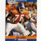 1990 Pro Set Football #488 Ken Lanier RC - Denver Broncos