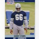 1990 Pro Set Football #483 Daniel Stubbs - Dallas Cowboys