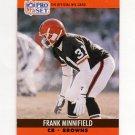 1990 Pro Set Football #475 Frank Minnifield - Cleveland Browns