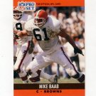1990 Pro Set Football #469 Mike Baab - Cleveland Browns