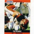 1990 Pro Set Football #466 Tim Krumrie - Cincinnati Bengals