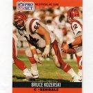 1990 Pro Set Football #465 Bruce Kozerski - Cincinnati Bengals