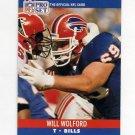 1990 Pro Set Football #445 Will Wolford - Buffalo Bills