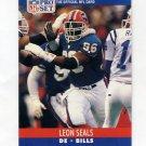 1990 Pro Set Football #442 Leon Seals RC - Buffalo Bills