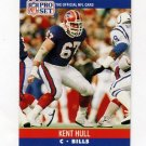 1990 Pro Set Football #438 Kent Hull - Buffalo Bills