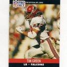 1990 Pro Set Football #430 Tim Green RC - Atlanta Falcons