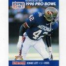 1990 Pro Set Football #400 Ronnie Lott - San Francisco 49ers
