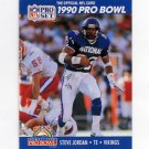 1990 Pro Set Football #398 Steve Jordan - Minnesota Vikings