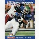 1990 Pro Set Football #396 Keith Jackson - Philadelphia Eagles