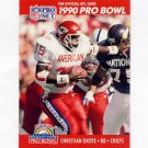 1990 Pro Set Football #363 Christian Okoye - Kansas City Chiefs