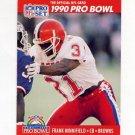 1990 Pro Set Football #357 Frank Minnifield - Cleveland Browns