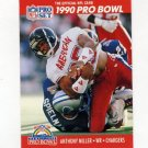 1990 Pro Set Football #356 Anthony Miller - San Diego Chargers