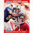 1990 Pro Set Football #351 Howie Long - Los Angeles Raiders