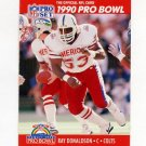 1990 Pro Set Football #339 Ray Donaldson - Indianapolis Colts