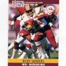1990 Pro Set Football #331 Ricky Sanders - Washington Redskins