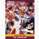 1990 Pro Set Football #330 Mark Rypien - Washington Redskins