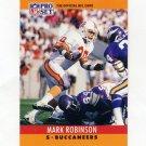 1990 Pro Set Football #316 Mark Robinson - Tampa Bay Buccaneers