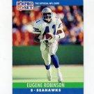 1990 Pro Set Football #305 Eugene Robinson - Seattle Seahawks