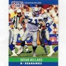 1990 Pro Set Football #303 Bryan Millard - Seattle Seahawks